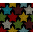 Seamless pattern of crochet stars vector