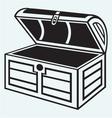 Vintage wooden chest vector