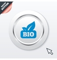 Bio product sign icon leaf symbol vector