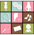 Girls icons vector