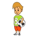 Boy with soccer ball vector