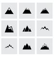 Mountains icon set vector