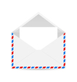 Open envelope with blank forms vector