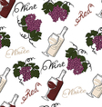 Seamless pattern with grapes and wine vector