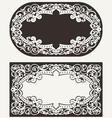 Two ornate frames backgrounds vector