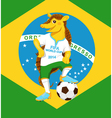 Armadillo fifa world cup mascot vector