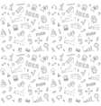 Seamless pattern of business and finance hand vector
