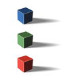 Three color cubes vector