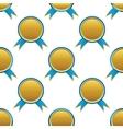 Ribbon award pattern vector