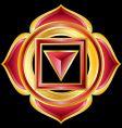 Hindu chakra muladhara medallion vector