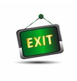 Exit icon label emergency green sign vector