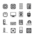 Computer performance and equipment icons vector