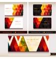 Corporate identity templates geometric pattern vector