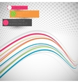 Abstract colorful wave line vector