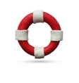 Lifebuoy on white background vector