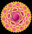 Hindu chakra sahasrara medallion vector