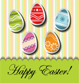Abstract easter card with egg stickers vector