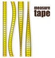 Measure tapes in different positions isolated on w vector