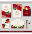 Corporate identity templates geometric pattern vector