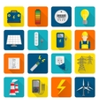 Electricity energy icons set vector