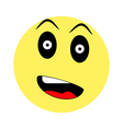 Surprised smiley on white background vector