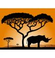 Savannah rhino vector