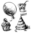 Party objects set vector
