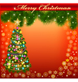 Background frame with a christmas vector