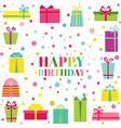 Happy birthday and party invitation card vector