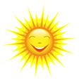 Smiling cute sun cartoon vector