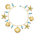 Bracelet with seashells vector