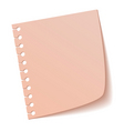 Sheet of notebook pink vector