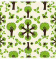 Hand green forest pattern vector