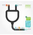 Infographics eco energy concept design diagram vector