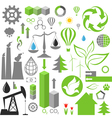 Environment pollution set of infographics vector