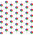 Rgb colored 3d cube patterned background vector
