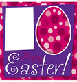 Bright retro happy easter card in format vector