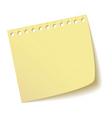 Sheet of notebook vector