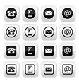 Contact buttons set - mobile phone email vector