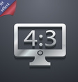 Aspect ratio 4 3 widescreen tv icon symbol 3d vector