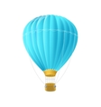 Blue air ballon isolated on white vector