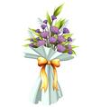 A boquet of violet flowers vector