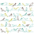 Birds seamless background vector