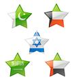 Flags star vector