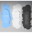 Banners and cloud color vector