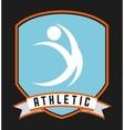 Athletic sport vector