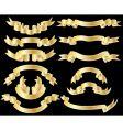 Set of golden ribbons vector