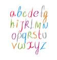 Script handwritten font alphabet letters vector