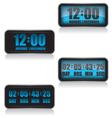 Digital clock and countdown vector