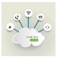 Cloud computing concept with icons vector